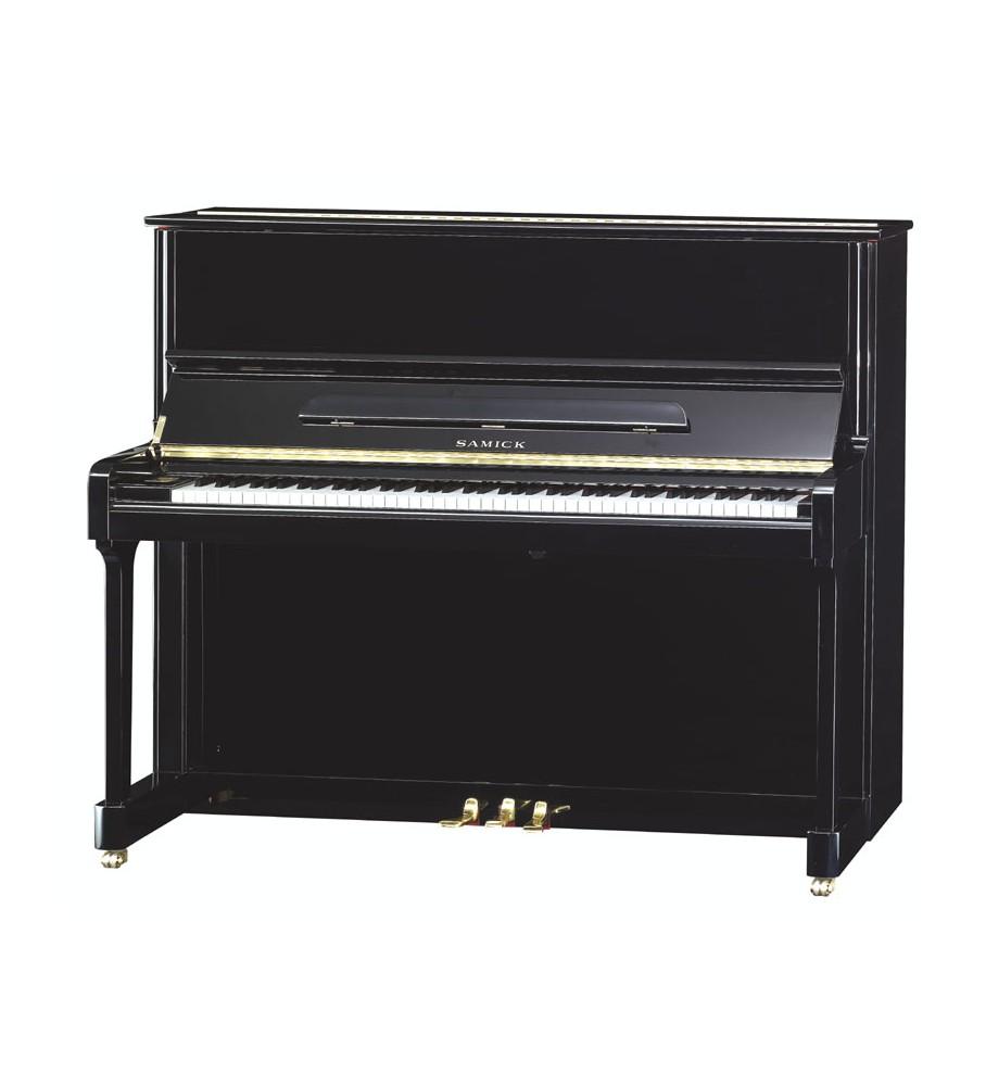 Música Asensio Piano acústico vertical Samick JS-121D NEGRO PULIDO