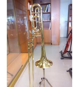Música Asensio Trombón Gara en Sib/Fa mod.GSL-61F tuberia ancha