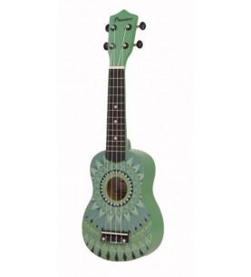 Música Asensio Ukelele Soprano Bamboo Jade B1E-JD verde