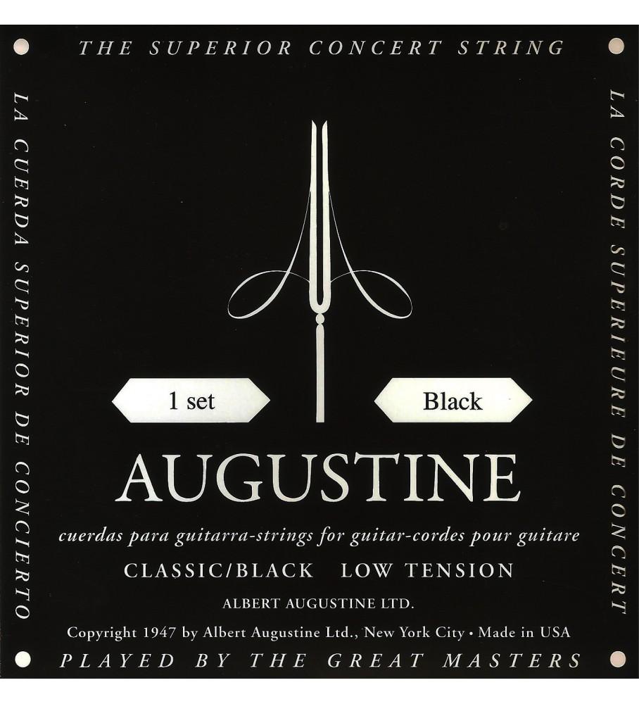 Música Asensio Juego de cuerdas Augustine negra baja tensión