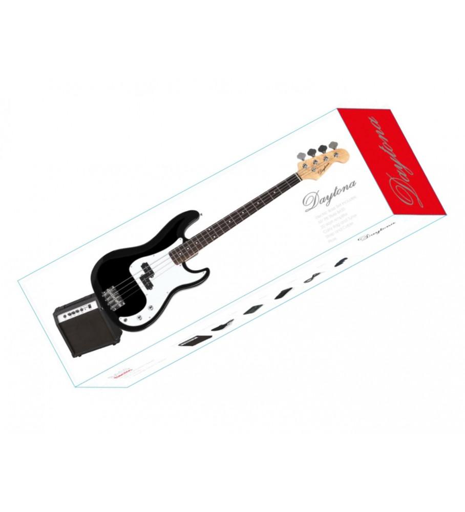 Música Asensio Pack bajo eléctrico tipo Precision Daytona PGBDBK Negro