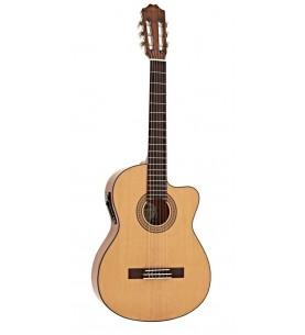 Música Asensio Guitarra Clásica Veelah CCTSE Cutaway Electrificada