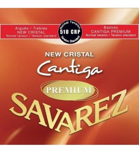 Música Asensio Juego Savarez New Crystal Cantiga Premium Roja Clasica 510-CRP