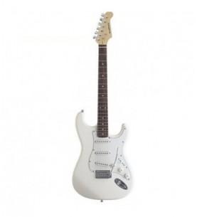 Guitarra eléctrica Daytona tipo Stratocaster ST309 Blanca